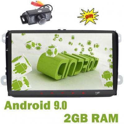 Doppio DIN GPS Car stereo 9 touchscreen Aandorid 9.0 2GB 16GB in dash GPS Navigation USB RDS autoradio Bluetooth Headunit