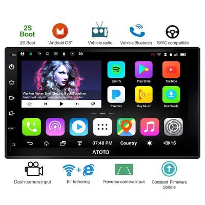 Nuovo, ATOTO A6 Universal 2 navigazione Android Car Stereo con doppio Bluetooth, Standard A6Y2710S 1G  16G Car Multimedia Radio, WiFi BT Tethering Internet, supporto 256G SD e altro