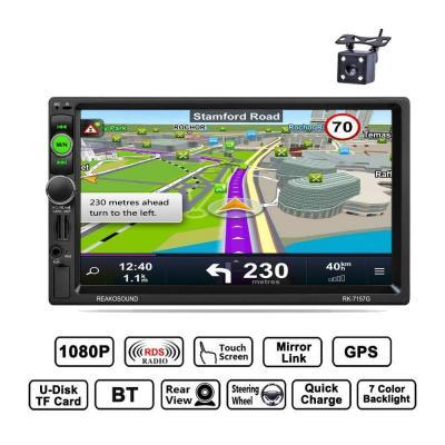 REAKOSOUND autoradio 2 din bluetooth 7 pollici Stereo Touch Screen GPS Navigazione supporto Radio AM FM RDS USB AUX Telecomando