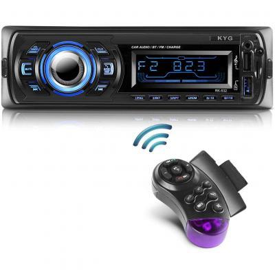 KYG Autoradio Bluetooth Chiamate Vivavoce Stereo Radio Supporto da auto Lettore MP3 WMA handsfree Telecomando sul volante