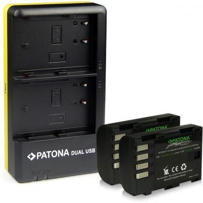 PATONA Dual Caricabatteria + 2x Premium Batteria DMW-BLF19