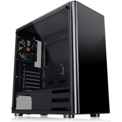 Thermaltake V200 Tempered Glass Edition Mid Tower Chassis Cassa del PC Nero