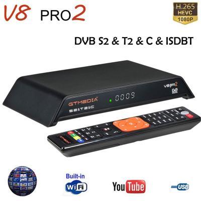 GT Media V8 PRO2 S2  T2  Cable  ISDBT Cavo Ricevitore TV Satellitare Digitale Terrestre Decoder