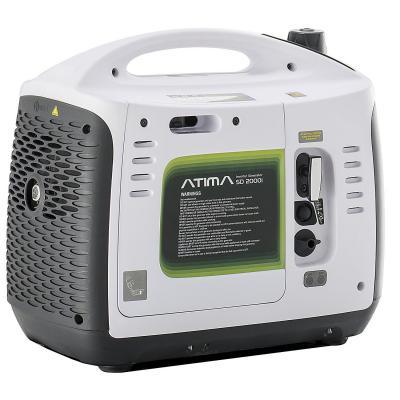 Atima Generatore di Corrente Inverter 2000W Portatile Silenziato a 4 Tempi a Benzina SD2000i