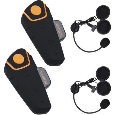 Boblov BT-S2 1000M BT Motorcycle Helmet Bluetooth Headset Motorbike Intercom Headset Intercom Interphone FM with a Peking Opera Keychain