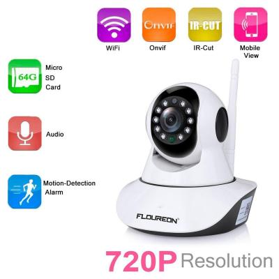 FLOUREON 720P Telecamera IP Camera Senza Fili WiFi