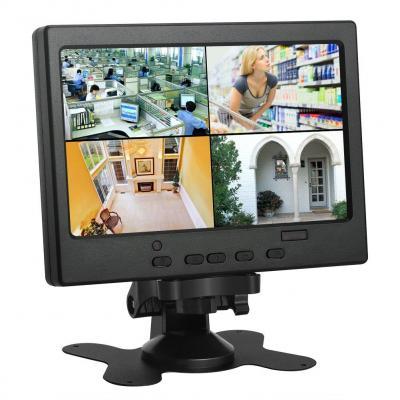 Koolertron 7 pollici 1024x600 IPS LCD CCTV Monitor
