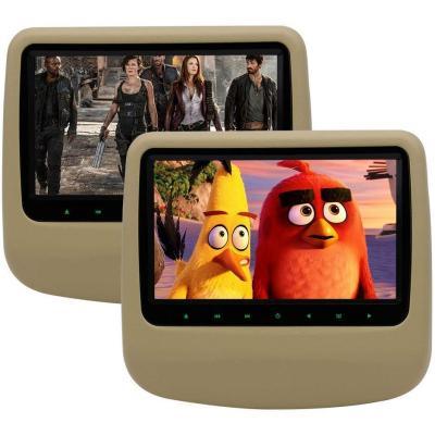 Eincar Due Beige Car DVD Lettore CD Monitor Poggiatesta regolabile