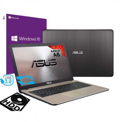 Notebook Asus Vivobook Portatile Pc Display da 15.6 Cpu AMD A6 2.60Ghz Ram 4Gb DDR4 HD 500GB Graphics Radeon R4 Hdmi Masterizzatore Wifi Bluetooth Windows 10 professional + open office