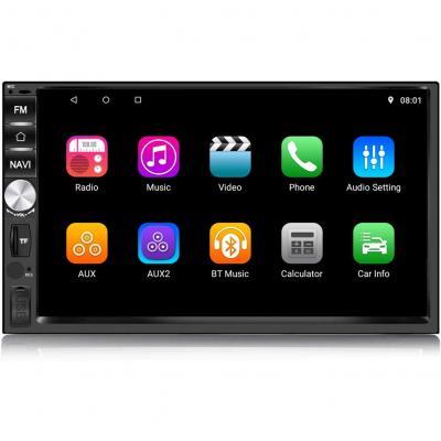 Panlelo PA1011 2 Din Android 8.1 Autoradio AM FM RDS Navigazione GPS BT Mirror Link Supporto lettore multimediale Controllo del volante AV Out poggiatesta