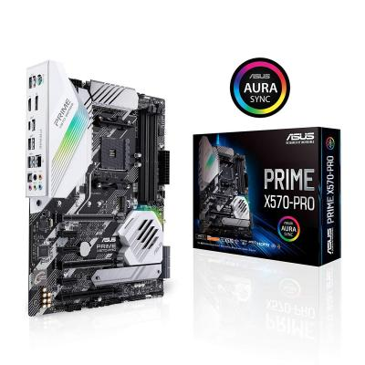 Asus Prime X570-pro Scheda Madre Atx Amd Am4 Ryzen 3000 14 Fasi Di Alimentazione Drmos Pcie 4.0 M.2 Ddr4 Intel Lan Hdmi Dp Sli