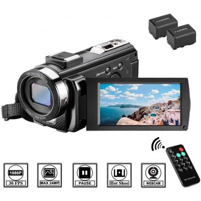 Videocamera Full HD 1080P 30FPS Fotocamera Digitale 3.0 LCD Schermo Ruotabile 270 Zoom Digitale 16X Webcam Videocamera Digitale