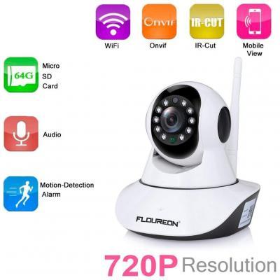 FLOUREON 720P Telecamera IP Camera Senza Fili WiFi
