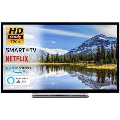 SMART TV 32 Pollici Televisore HD Ready 720p Toshiba 32W3863DA Cinema Serie Tv Dolby Wi-FI Wlan Connettività Netflix You Tube