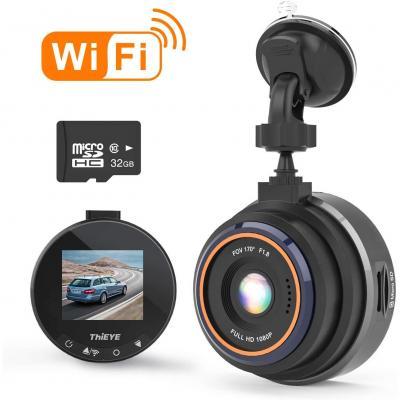 Thieye Dashcam Wifi 1080p Full Hd Auto