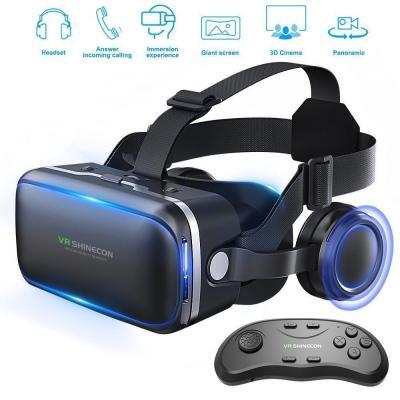 Honggu VR Shinecon VR Headset occhiali 3D VR realtà virtuale auricolare